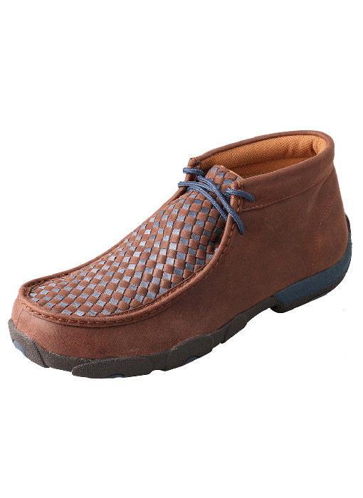 Men's Twisted X Driving Mocs D Toe Brown / Blue - MDM0030