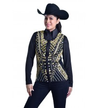Ladies' RHC Carly Gold Rhinestone Show Vest