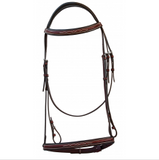 Royal Highness Fancy Stitched Italian Leather Bridle w/ Laced Reins