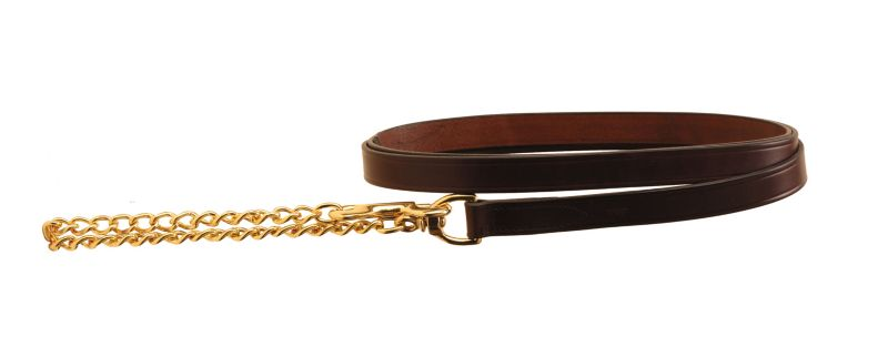"Tory Leather 1"" Lead With 24"" Solid Brass Chain"
