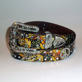 Ladies' Nocona Tattoo & Rhinestone Peace Sign Belt