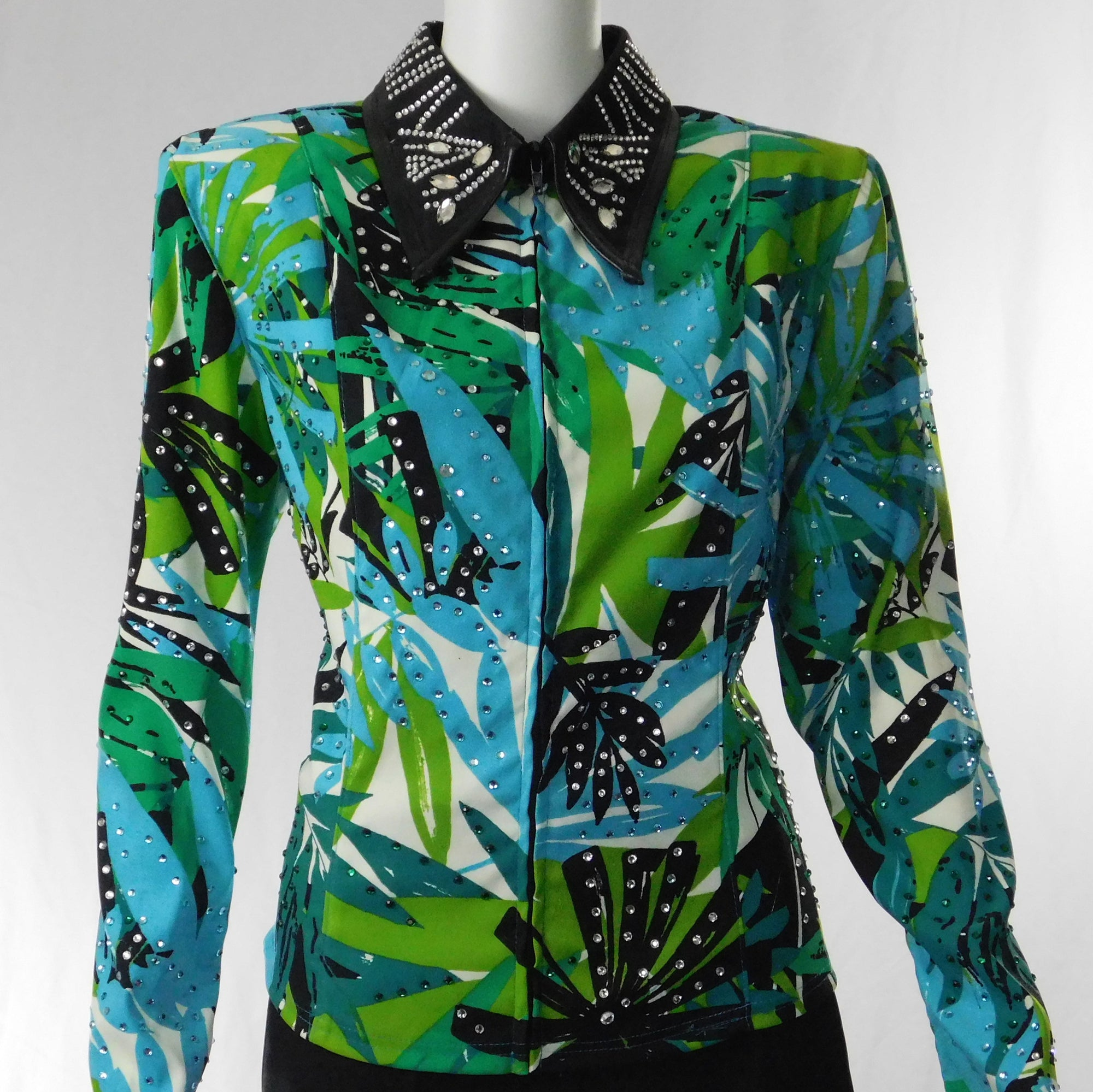 Medium Tropical Blues and Greens Show Jacket
