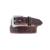 Nocona Tooled Acorn Leaf Belt