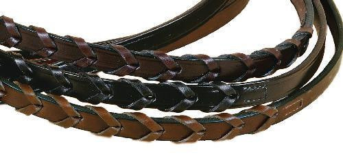 "5/8"" X 60"" Long Laced Rein With Hook & Stud Bit Ends"