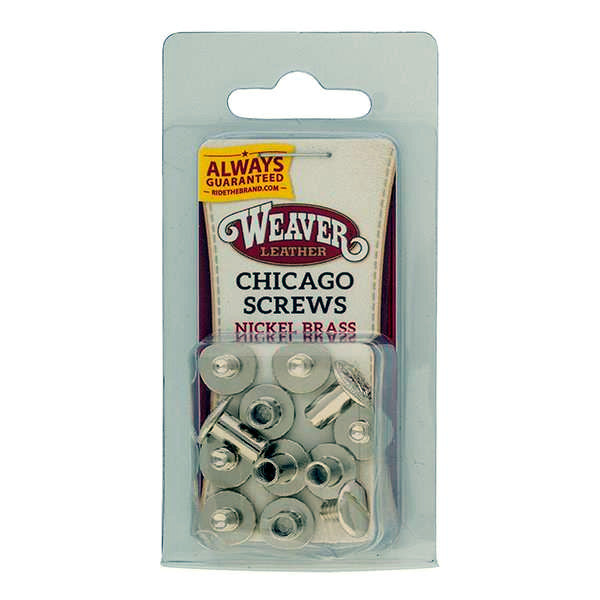 Weaver Chicago Screw Handy Pack Nickel Over Brass, Floral