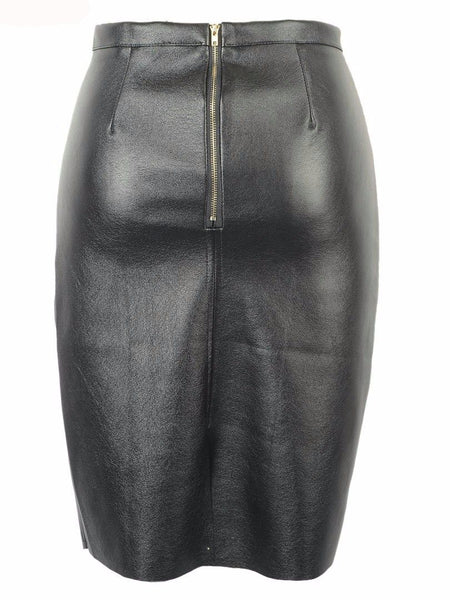 Faux Leather Pencil Skirt - ELEGANTe Webshop