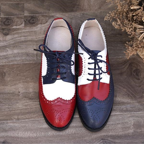 2017 Fashion -  Genuine Leather Vintage Oxford Shoes
