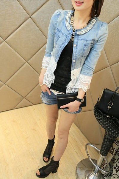 Denim Vintage Jacket - ELEGANTe Webshop