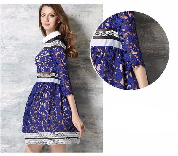 2017 Fashion - Embroidery Flower Vintage Dress