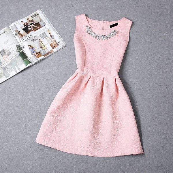 2017 Fashion - Broadcloth vintage dress - ELEGANTe Webshop