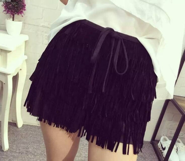 2017 Fashion -  Bohemian Style Fringed Shorts - ELEGANTe Webshop