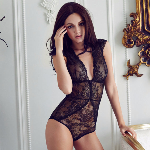 Full Lace  V-neck Bodysuit