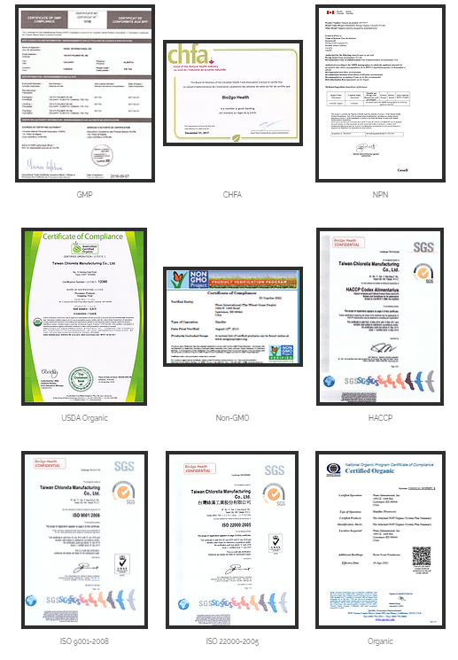 Bio2go Certifications