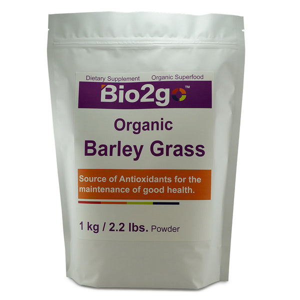Superfoods-USDA Certified Organic Barley Grass 1000g powder by Bio2go™ Health