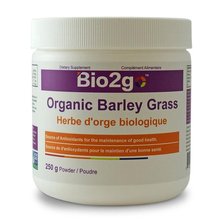 Bio2go™ USDA Certified Organic Barley Grass Powder (250 g) - Bio2Go Health