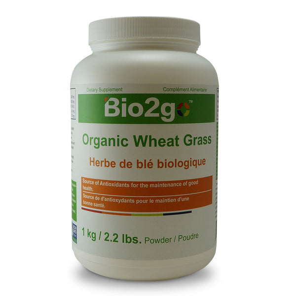 Bio2go™ USDA Certified Organic Wheat Grass Powder Bottle (1 kg / 2.2 lbs) - Bio2Go Health