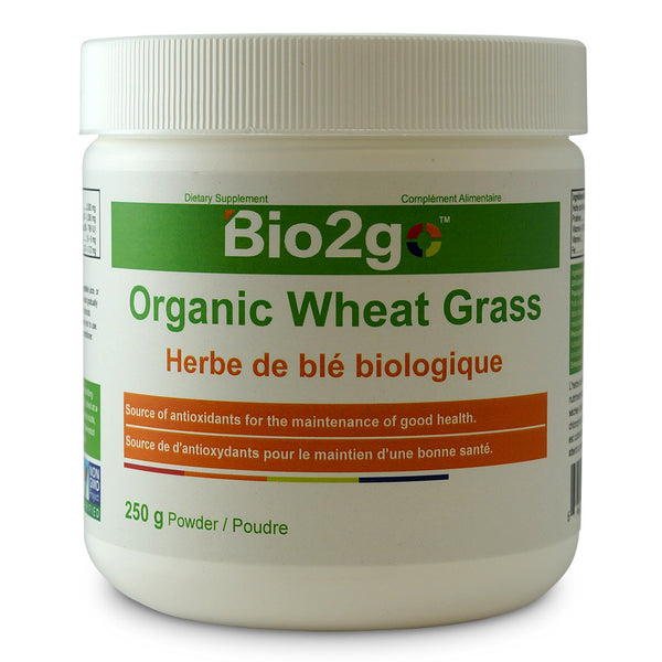 Bio2go™ USDA Certified Organic Wheat Grass Powder (250 g) - Bio2Go Health