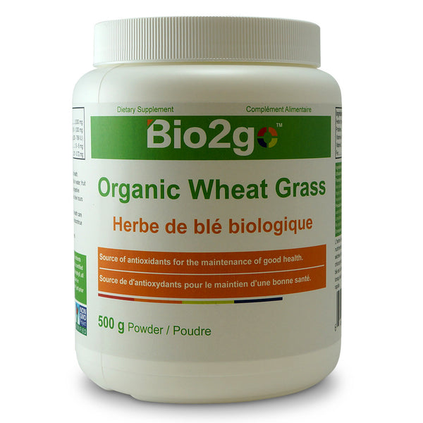 Bio2go™ USDA Certified Organic Wheat Grass Powder (500 g) - Bio2Go Health