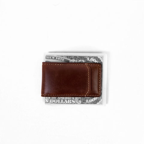 Boconi - Bryant RFID Magnetic Money Clip in Antiqued Mahogany