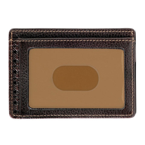 Boconi - Tyler Tumbled RFID Weekender ID Card Case in Coffee