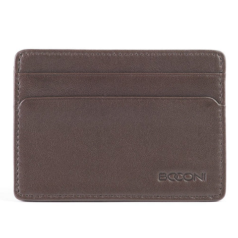 Boconi - Collins Calf Rock Solid RFID Weekender ID Card Case in Espresso