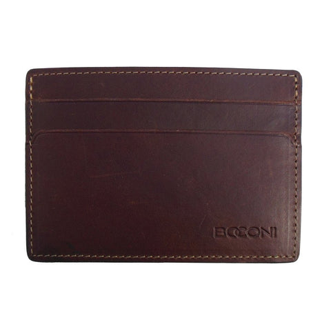 Boconi - Bryant RFID Weekender ID Card Case in Antiqued Mahogany