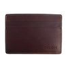 Image of Boconi - Bryant RFID Weekender ID Card Case in Antiqued Mahogany