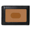 Image of Boconi - Tyler Tumbled RFID Two Fold Money Clip in Black
