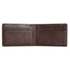 Image of Boconi - Tyler Tumbled RFID Two Fold Money Clip in Coffee