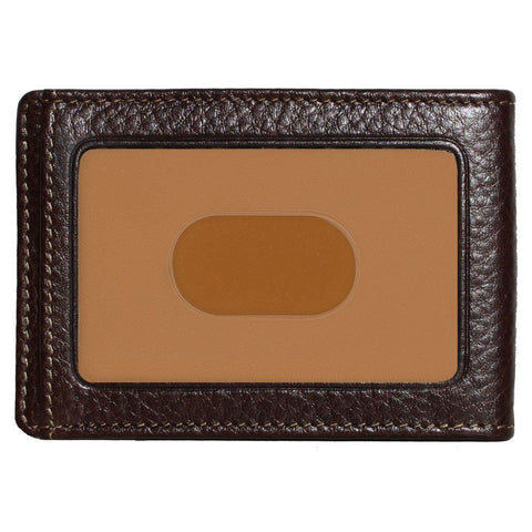 Boconi - Tyler Tumbled RFID Two Fold Money Clip in Coffee