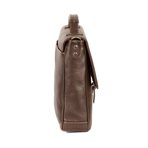 Boconi - Tyler Tumbled Brokers Bag in Coffee