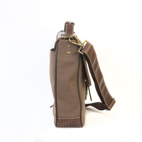 Boconi - Bryant LTE Brokers Bag in Heather Brown