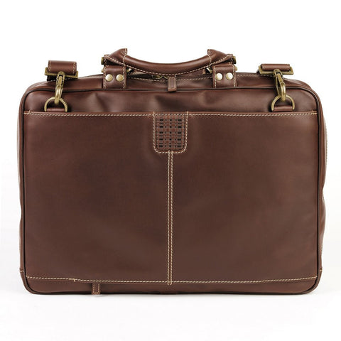 Boconi - Bryant Analyst Bag in Antiqued Mahogany Leather