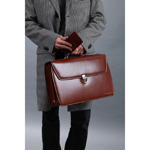 Jack Georges Elements Double Gusset Flap Over Briefcase