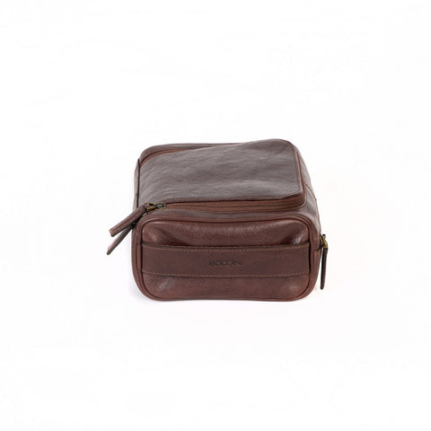 Boconi - Becker Zip Around Travel Kit in Whiskey
