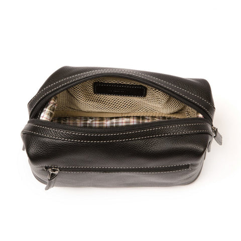 Boconi - Tyler Tumbled Cargo Travel Kit in Black