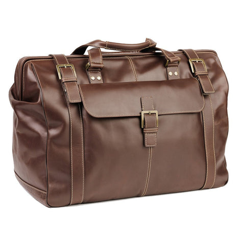Boconi - Bryant Safari Bag in Antiqued Mahogany Leather