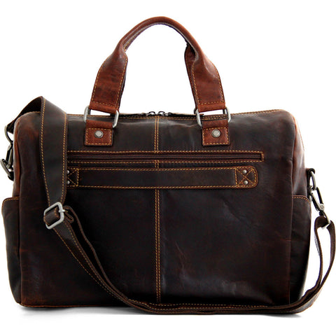 Jack Georges Voyager Top Zip Briefcase with Front Flap Pocket