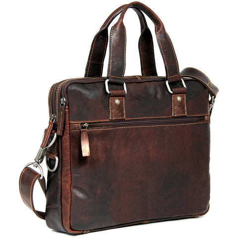 Jack Georges Voyager Slim Double Entry Top Zip Briefcase