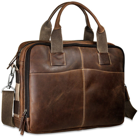 Jack Georges Arizona Double Entry Top Zip Briefcase