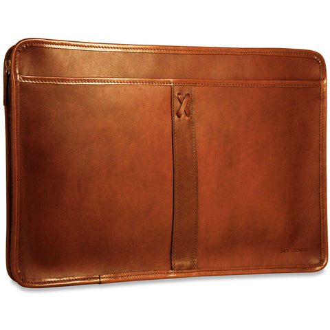 Jack Georges Belmont Underarm Portfolio with Zip Closure