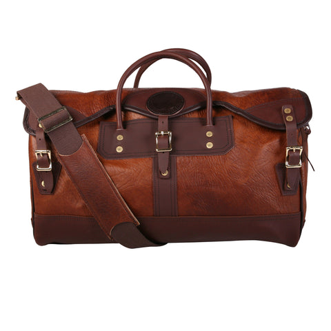 Duluth Bison Leather Sportsman's Duffel