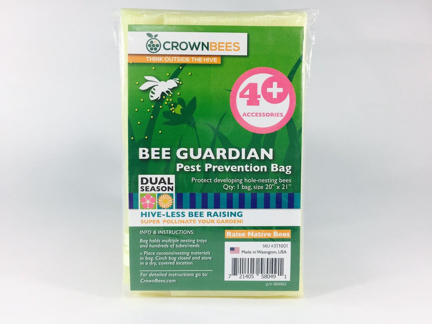 crown bees beeguardian cocoon bag for native bees canadian pet