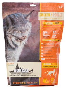 BOREAL Back to Basics Cat Food (Dry) - Lower in 'Glycemic Index' - Grain Free for All Ages