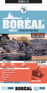 BOREAL Back to Basics Dog Food (Dry) - Lower in 'Glycemic Index' - Grain Free for All Life Stages - Canadian Pet Connection