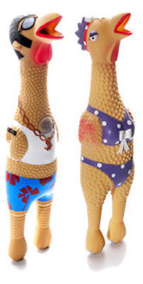 CHARMING PET - LATEX DOG TOYS - Squawkers Characters (Small, Large) - Earl / Henrietta