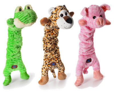CHARMING PET - PLUSH DOG TOYS - Mumbo Jumbos - Frog / Leopard / Pig - Canadian Pet Connection