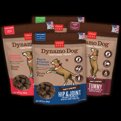 CLOUD STAR Dynamo Functional Soft Chews (Hip & Joint Bacon & Cheese / Chicken | Tummy Pumpkin & Ginger |Skin & Coat Salmon |Puppy Chicken & Sweet Potato | Endurance Peanut Butter / Turkey) - Canadian Pet Connection