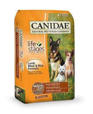 CANIDAE Dog Food (Lamb and Rice Formula)- for All Life Stages - Canadian Pet Connection