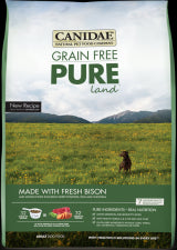 CANIDAE Grain Free Dog Food -Pure Land (Grain Free Bison and Lamb)- for All Life Stages - Canadian Pet Connection